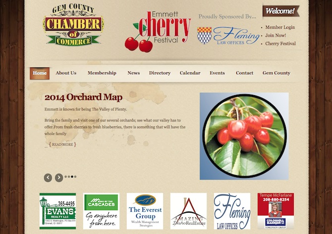 Chamber Of Commerce Website Design By Openpotion