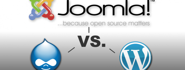 Joomla vs Drupal vs Wordpress