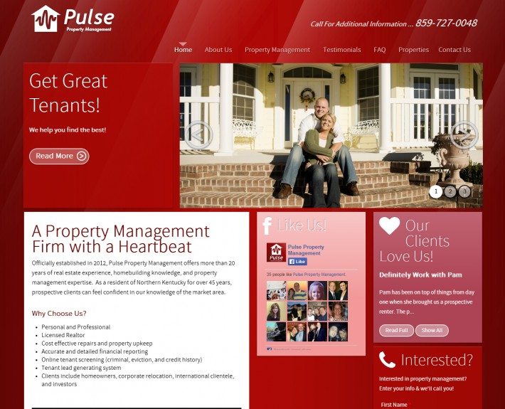 Pulse AFTER Website Redesign